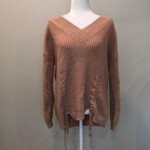 Vero Moda Blush Pink Knit Oversized Sweater Small